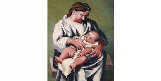 Pablo Picasso. Maternidad. Fontainebleau, été 1921. Óleo sobre lienzo