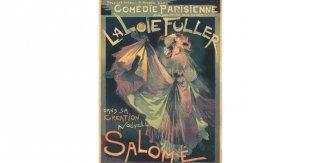 La Loie Fuller en su nueva creación Salomé, c. 1895. Litografía a color. V&A:  E.161-1921. © Victoria and Albert Museum, Londres. © Georges de Feure (1868-1943), VEGAP, Madrid, 2018