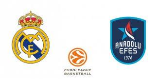 Real Madrid - Anadolu Efes (Euroliga. Jornada 20)