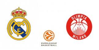 Real Madrid - Olimpia Milan (Euroliga. Jornada 27)