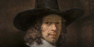 Rembrandt. Retrato de un caballero con sombrero y guantes. h. 1656-58. Washington, National Gallery of Art, Widener Collection