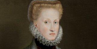 Retrato de la reina Ana de Austria. 1573. Óleo sobre lienzo, 86 x 67,5 cm.