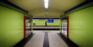 El hombre del metro de Madrid. Madrid, diciembre de 2019