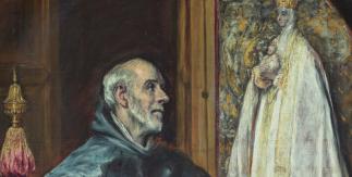 San Ildefonso. El Greco. Óleo sobre lienzo, h. 1600. Fundación Hospital Nuestra Señora de la Caridad – Memoria Benéfica de Vega (FUNCAVE)