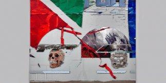 Untitled (Human Remains in Berlin)[Sin título (Restos humanos en Berlín)], 2014-2015, Óleo sobre cristal © Dierk Schmidt, VEGAP, Madrid, 2018