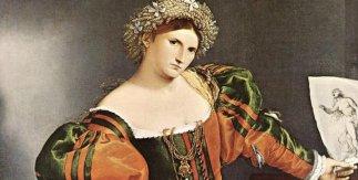Lorenzo Lotto, Una mujer veneciana vestida como Lucrecia o Retrato de Lucrezia Valier 1533