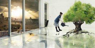 Larissa Sansour Nation Estate, 2012. Vídeo 9' 02'' Imagen cortesía de la artista y de la Galería Sabrina Amrani, Madrid