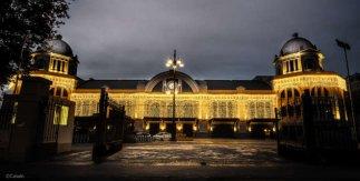Iluminación navideña 2020-2021 del Gran Teatro Bankia Príncipe Pío. © Caballo
