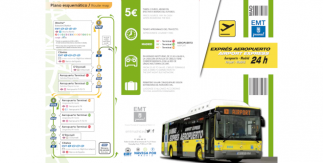 Plano Autobús exprés al Aeropuerto Madrid Barajas / Route Map Bus Airport Expres Madrid Barajas