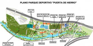 Plano Parque Deportivo Puerta de Hierro