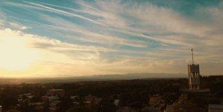 Vista desde el Cerro de los Locos en la Dehesa de la Villa con la Torre Meteorológica del CIEMAT a la derecha