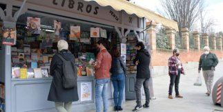 Librerías de la Cuesta de Moyano. Febrero de 2021