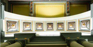Gran Teatro Bankia Principe Pio - La Estación (detalle del techo de la capilla)
