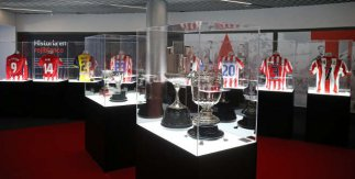 Sala de Trofeos del Atlético de Madrid. Tour Wanda Metropolitano