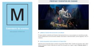 Calendario de eventos Madrid