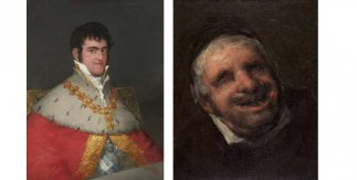 Retrato de Fernando VII hacia 1814 - 1815 Óleo sobre lienzo / El tío Paquete hacia 1819 - 1820 Óleo sobre lienzo. 39 x 31 cm. Francisco de Goya. © Museo Nacional Thyssen-Bornemisza, Madrid